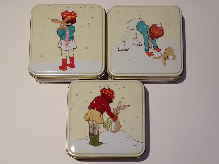 Belle & Boo - Square Trinket/Treat Tin - 3 Christmas Designs To Choose From - Perfect Stocking Filler