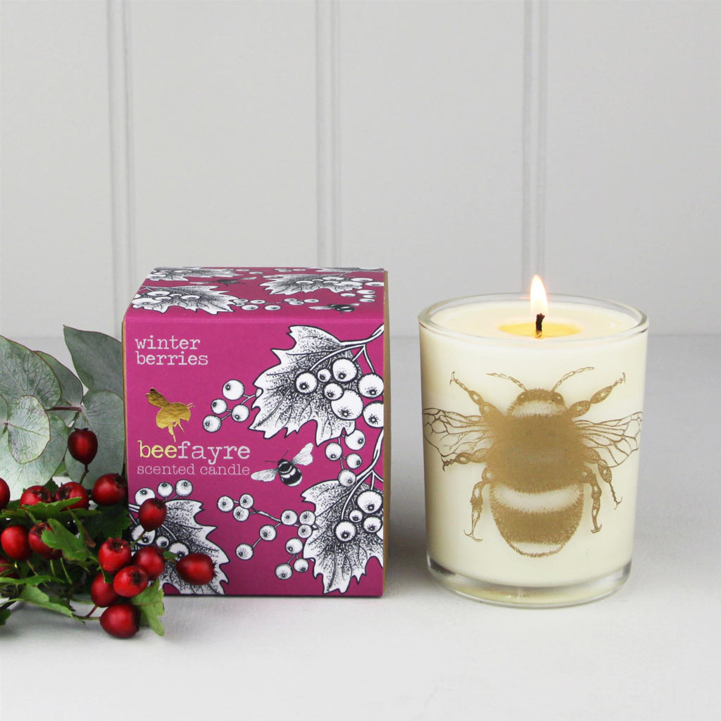Beefayre - Bee Merry - Winter Berries- Large Scented Candle - 20cl/50hours