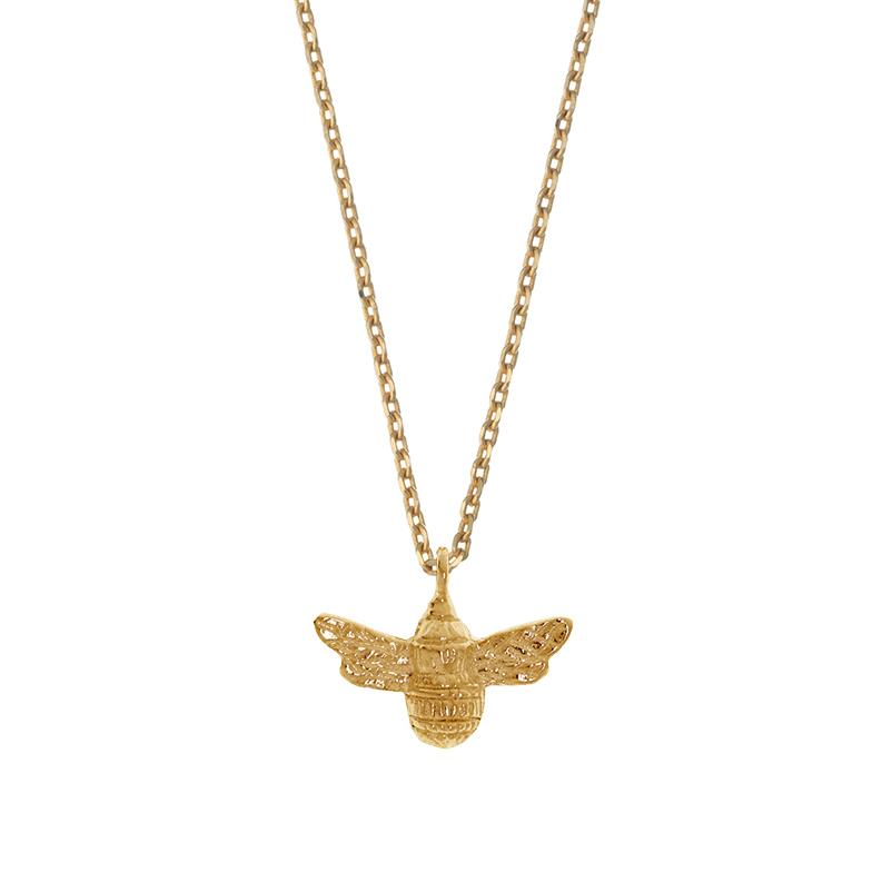 Bee Necklace - Gold Plated - Be Positive - Estella Bartlett