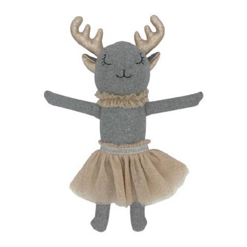 Bessie The Deer - 40 cm Softie - and the little dog laughed