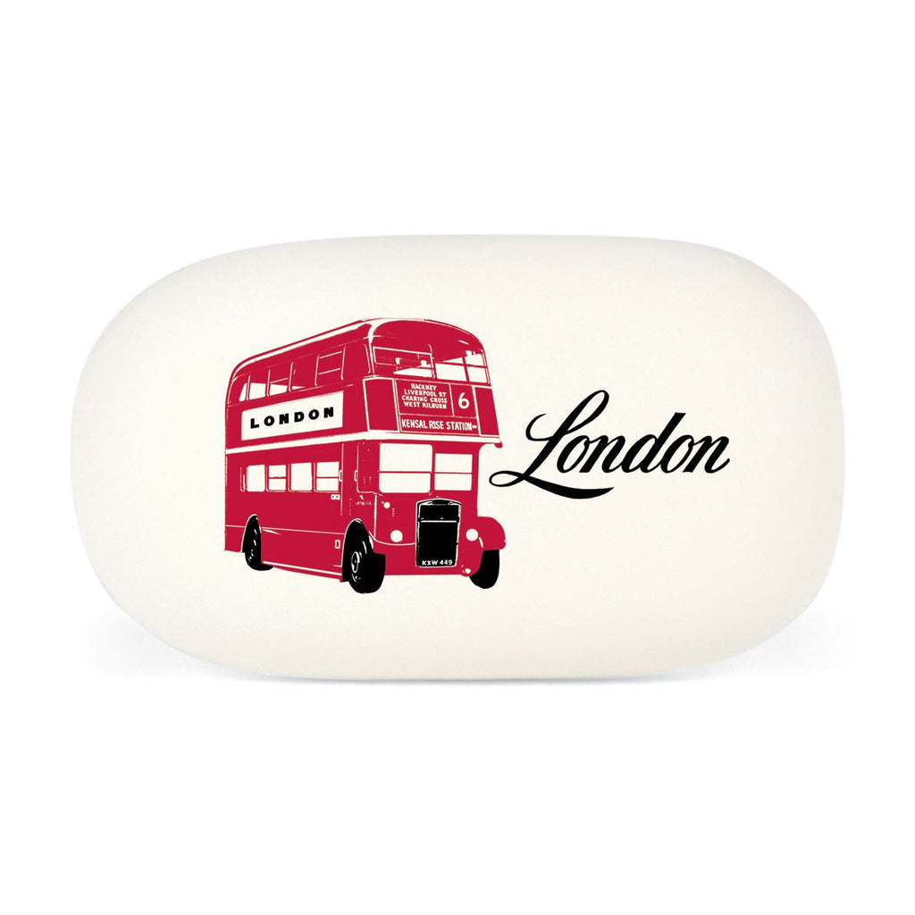Cavallini - Eraser/Rubber Tablet - London - Double Decker Bus - High Quality Rubber Eraser