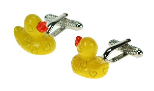 Novelty Cufflinks - Rubber Duck - CK574 - Onyx Art
