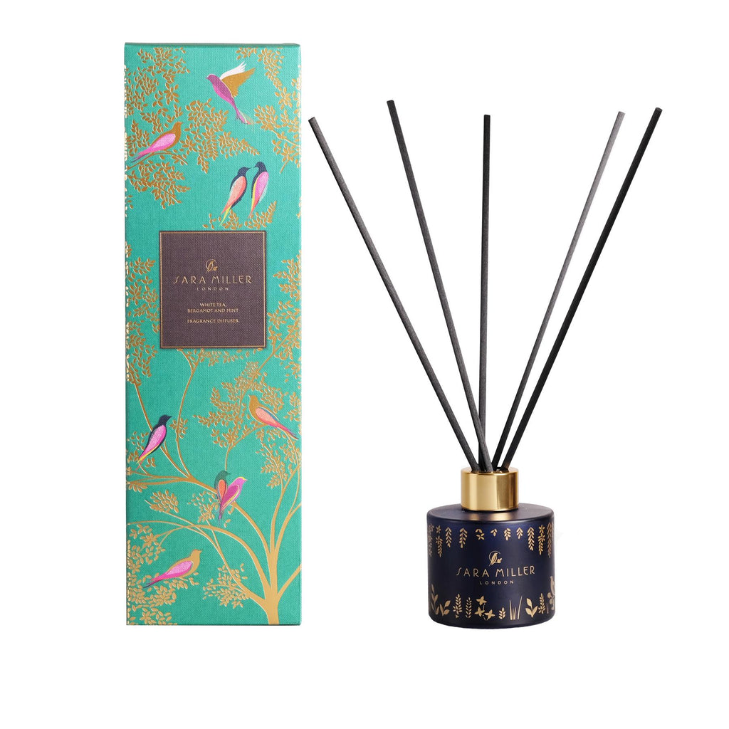 Sara Miller - Alcohol Free Room Diffuser - White Tea, Bergamot & Mint 100ml