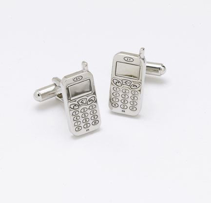 Novelty Cufflinks - Mobile Phone - CK29 - Onyx Art