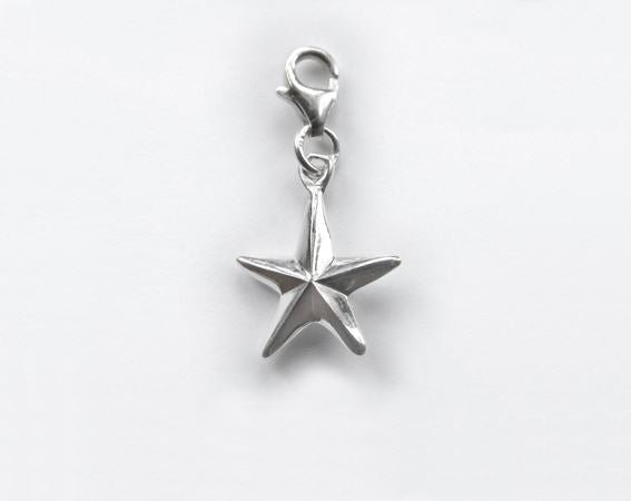 Sterling Silver Charm - Tales From The Earth - Star - Presented In Pale Blue Gift Box