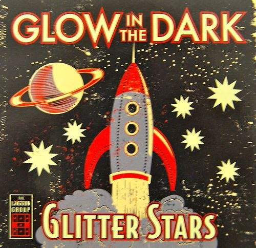 Glow In The Dark -  Glitter Stars - Tin of 42 Giant & Medium Stars