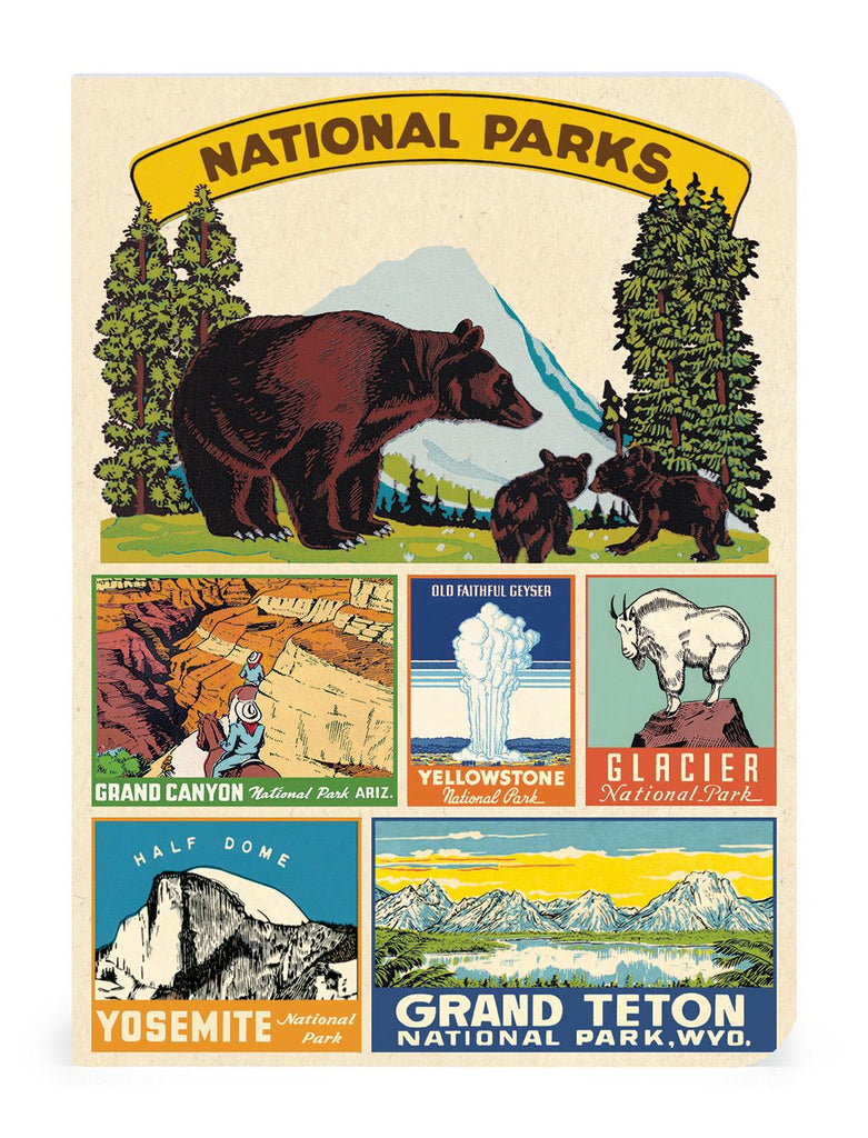 Cavallini - Set of 3 Mini Notebooks - American National Parks