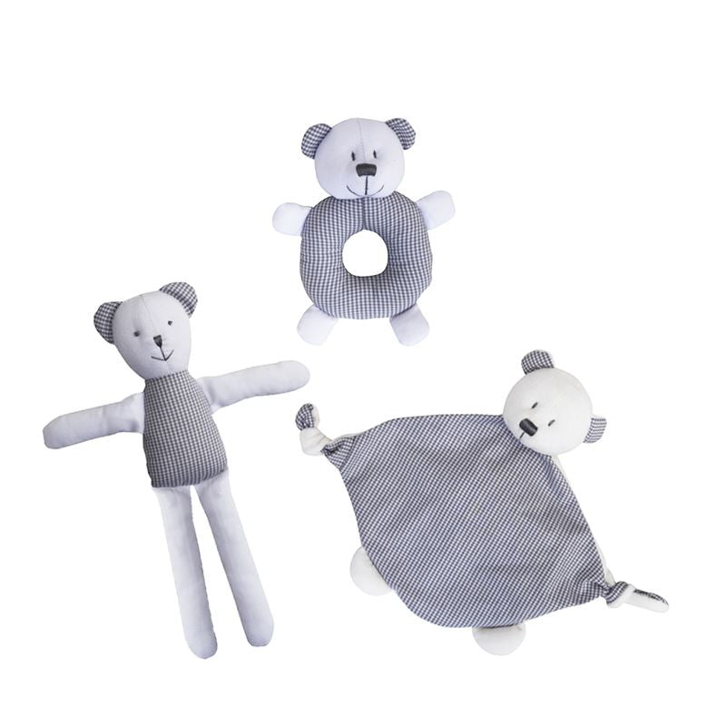 Bombay Duck - Newborn Baby Gift Set - Max Teddy Bear - 3 Piece Set
