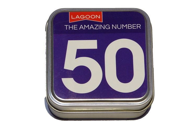 Lagoon - Table Top Number Trivia - 6 Numbers To Choose From - 16, 18, 21, 30, 40 or 50