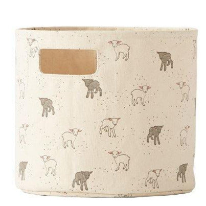 Petit Pehr Nursery Storage - 100% Heavyweight Cotton - Pint - Little Lambs 10 x 9ins