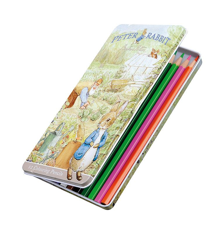Peter Rabbit & Friends - Tin of Colouring Pencils - Set of 12