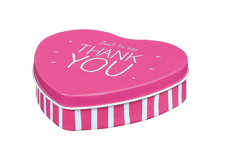 Happy Jackson - Small Heart - Treat/Trinket Tin - Just To Say Thank You