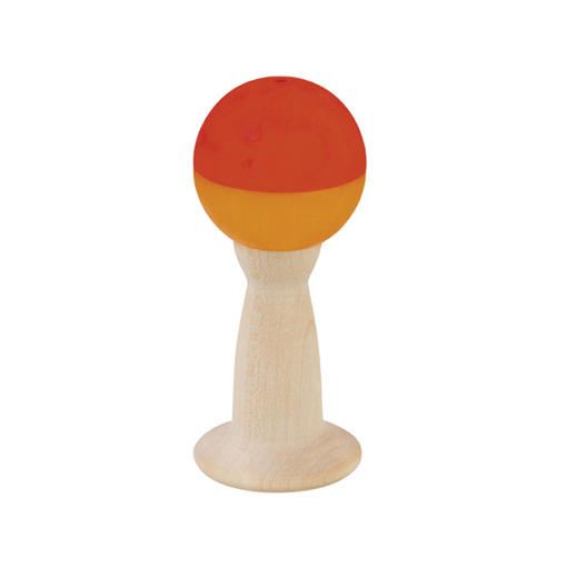 Grip Rattle With Bell - Wooden Baby Toy - me by Selecta