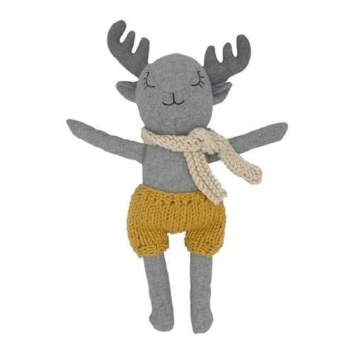 Felix The Deer - 40 cm Softie - and the little dog laughed