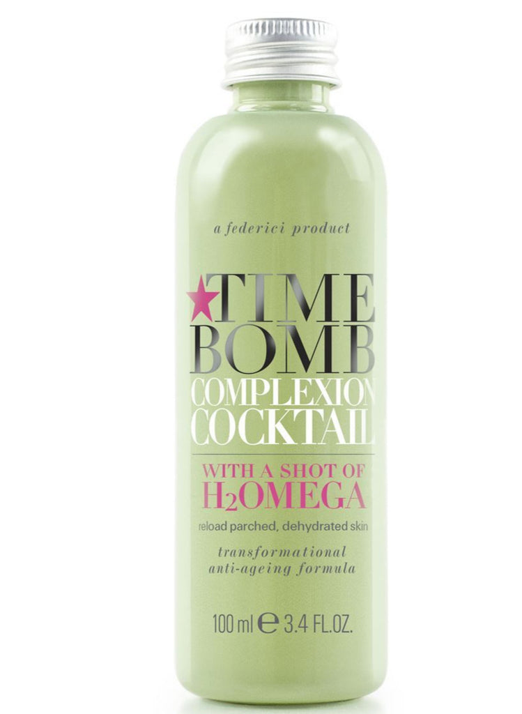 TIME BOMB Complexion Cocktail With a Shot of H2Omega 100ml - Reload Parched, Dehydrated Skin