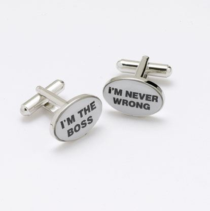 Novelty Cufflinks - I'm The Boss - CK44 - Onyx Art