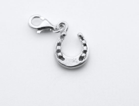 Sterling Silver Charm - Tales From The Earth - Horseshoe - Presented In Pale Blue Gift Box