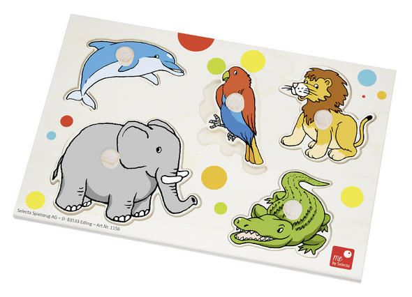 Zoo Puzzle - Wooden Baby Jigsaw Toy - me by Selecta
