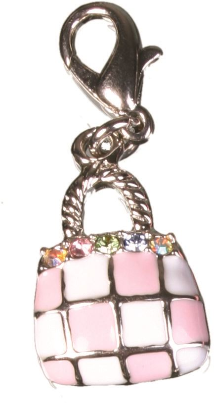 Bombay Duck - Shopping Bag Criss Cross Enamel Charm - CHB035