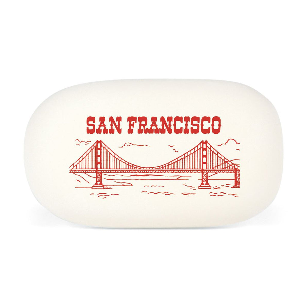 Cavallini - Eraser/Rubber Tablet - San Francisco - Golden Gate Bridge - High Quality Rubber Eraser