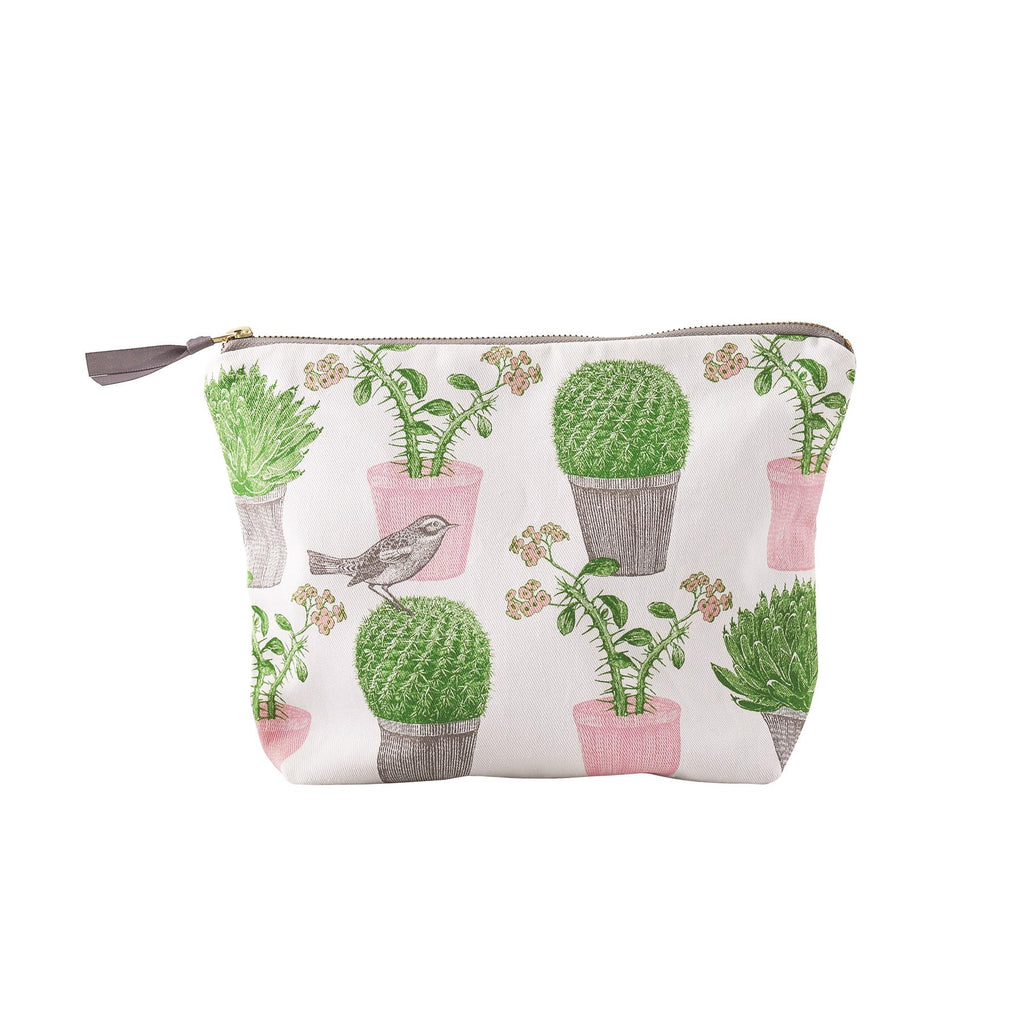 Thornback & Peel - Cosmetic/Make-Up Bag -  Cactus & Bird - Available In 2 Sizes
