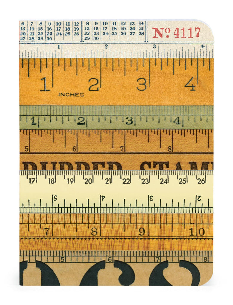 Cavallini - Set of 3 Mini Notebooks - Numbers - Lined, Blank & Graph Interiors