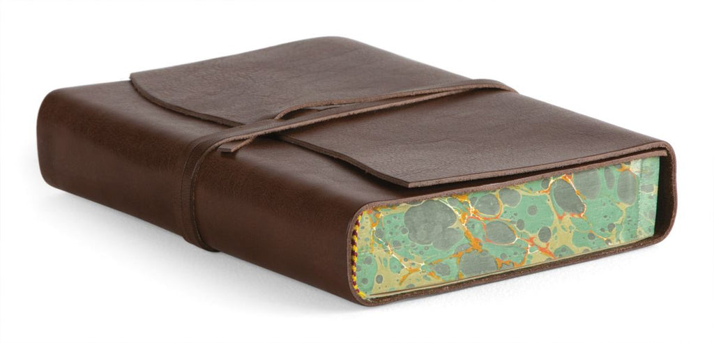Cavallini - Leather Softbound Roma Lussa Journal - Available in 4 Colours - 5x7ins - 416 pages