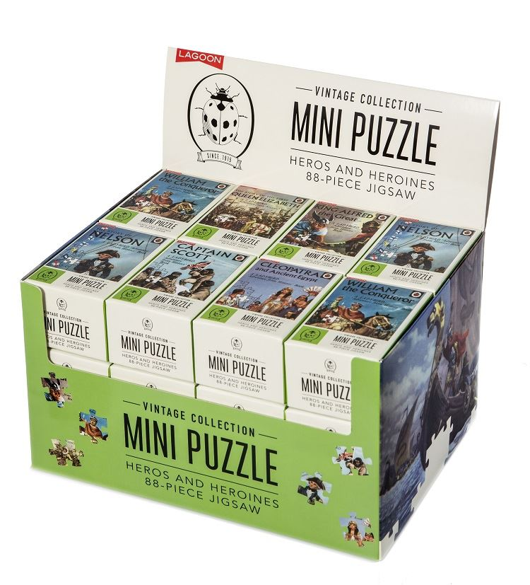 Ladybird Vintage Collection Mini Jigsaw Puzzle - Heros & Heroines 88 Piece Jigsaw - Sold Individually