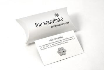 Sterling Silver Snowflake - Tales From The Earth - Pillow Pack