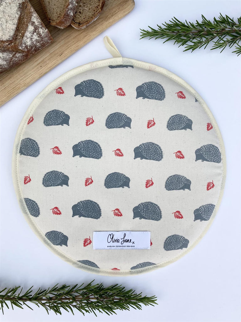 Olivia Jane Designs - 100% Cotton Hob/Range Cover 36 x 36cms - Snuffling Along Hedgehogs