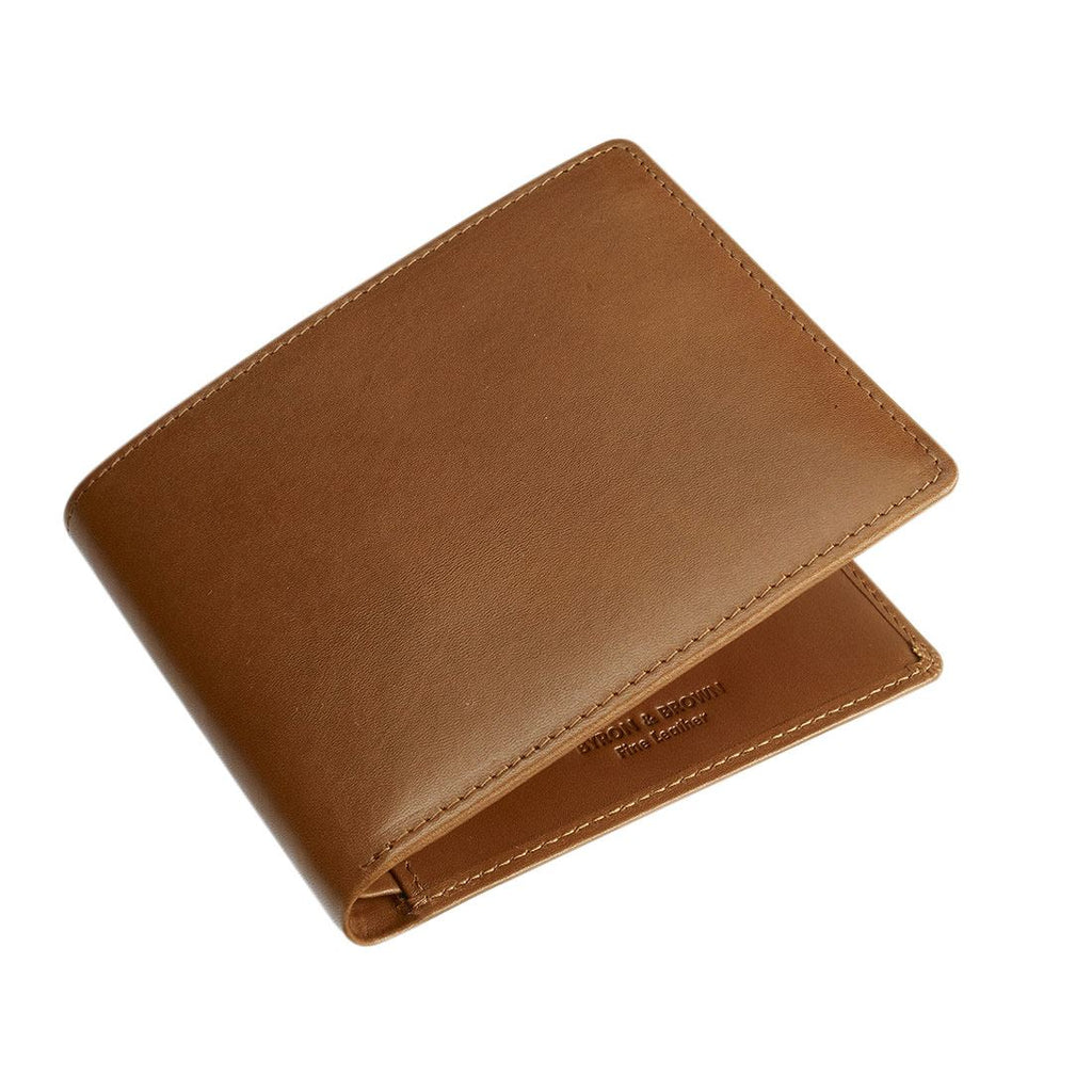 Byron & Brown - Gentleman's Classic 8 Card Wallet - Italian Leather - Gift Boxed - 3 Colours