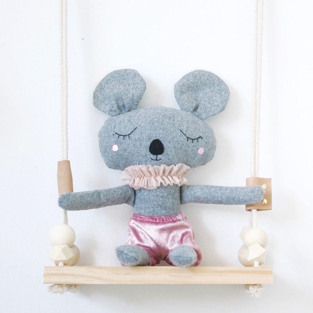 Mabel The Mouse - 35 cm Softie - and the little dog laughed