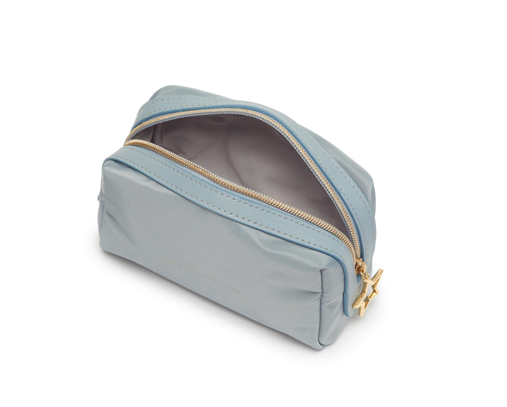 Make Up Bag/Pouch - Pale Powder Blue - Enjoy The Little Things  - 17x10x8cms - Estella Bartlett