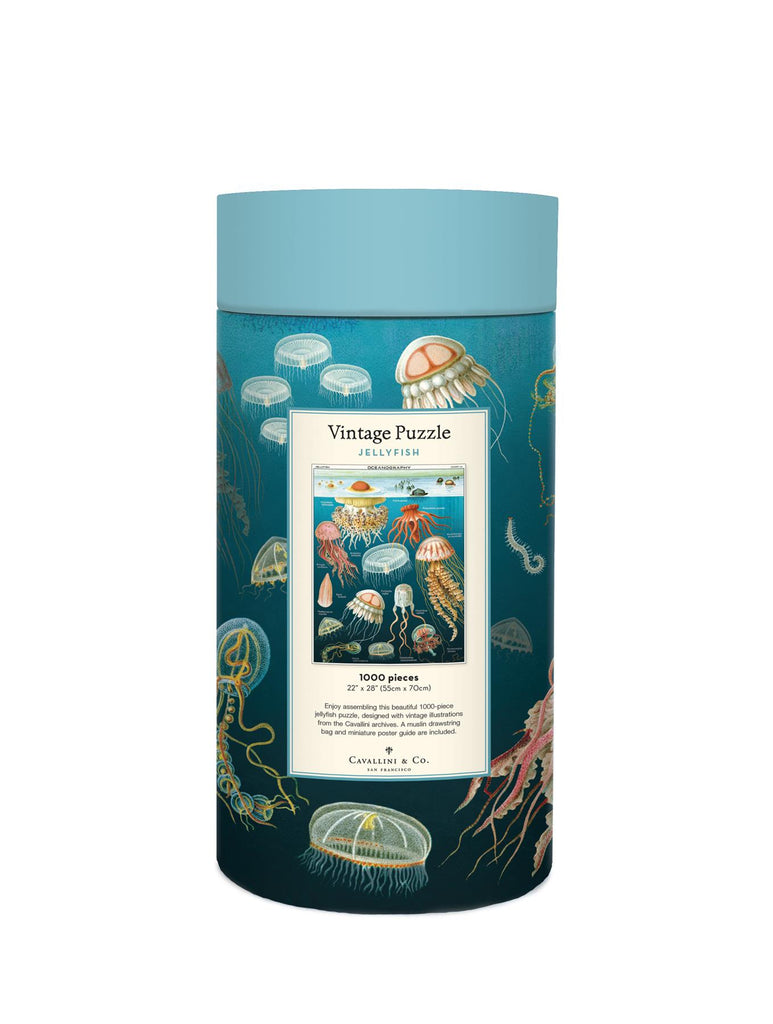 Cavallini - Vintage Jigsaw Puzzle - 1000 Pieces - 55x70cms - Jelly Fish