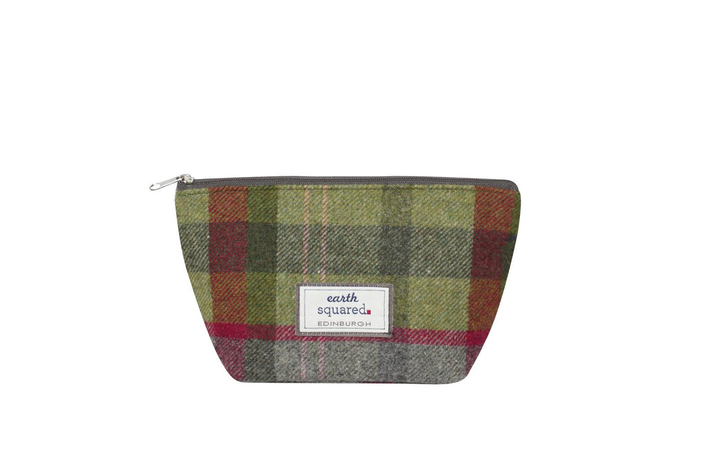Earth Squared - Make-Up Bag - Tweed Wool - Stone Moss - 25x13.5x8cms