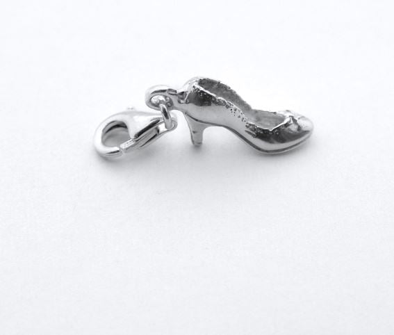 Sterling Silver Charm - Tales From The Earth - Shoe - Presented In Pale Blue Gift Box