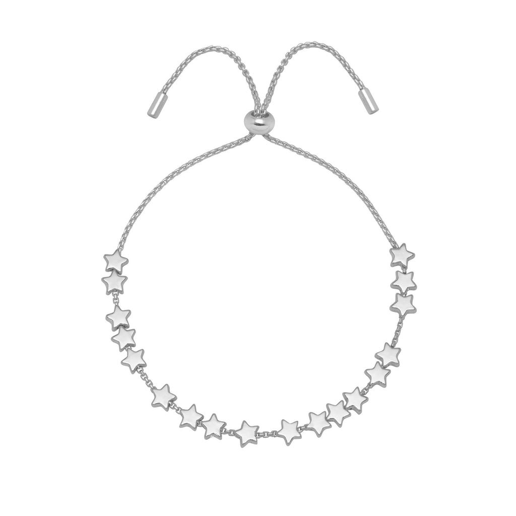 Stars So Bright Chain Slider Bracelet - Silver Plated - Estella Bartlett