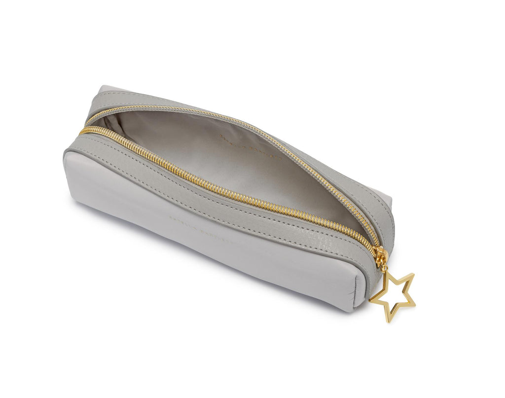 Pencil Case/Make Up Case - Grey/Gold Star - 19x6x6cms - Estella Bartlett