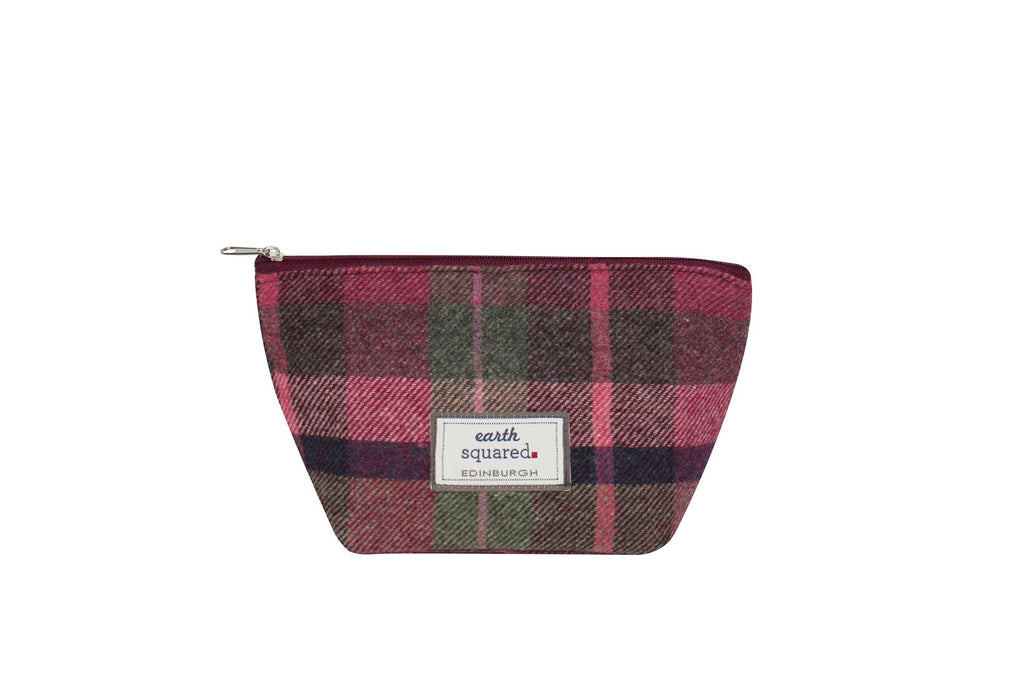 Earth Squared - Make-Up Bag - Tweed Wool - Hawthorn Berry - 25x13.5x8cms