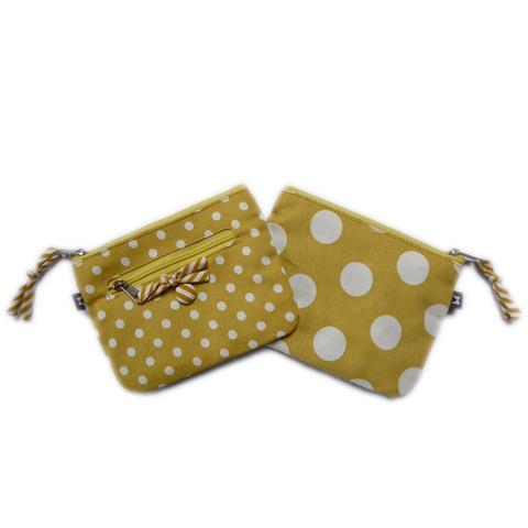 Earth Squared - Emily Purse - Spotty - Yellow - 14x11cms