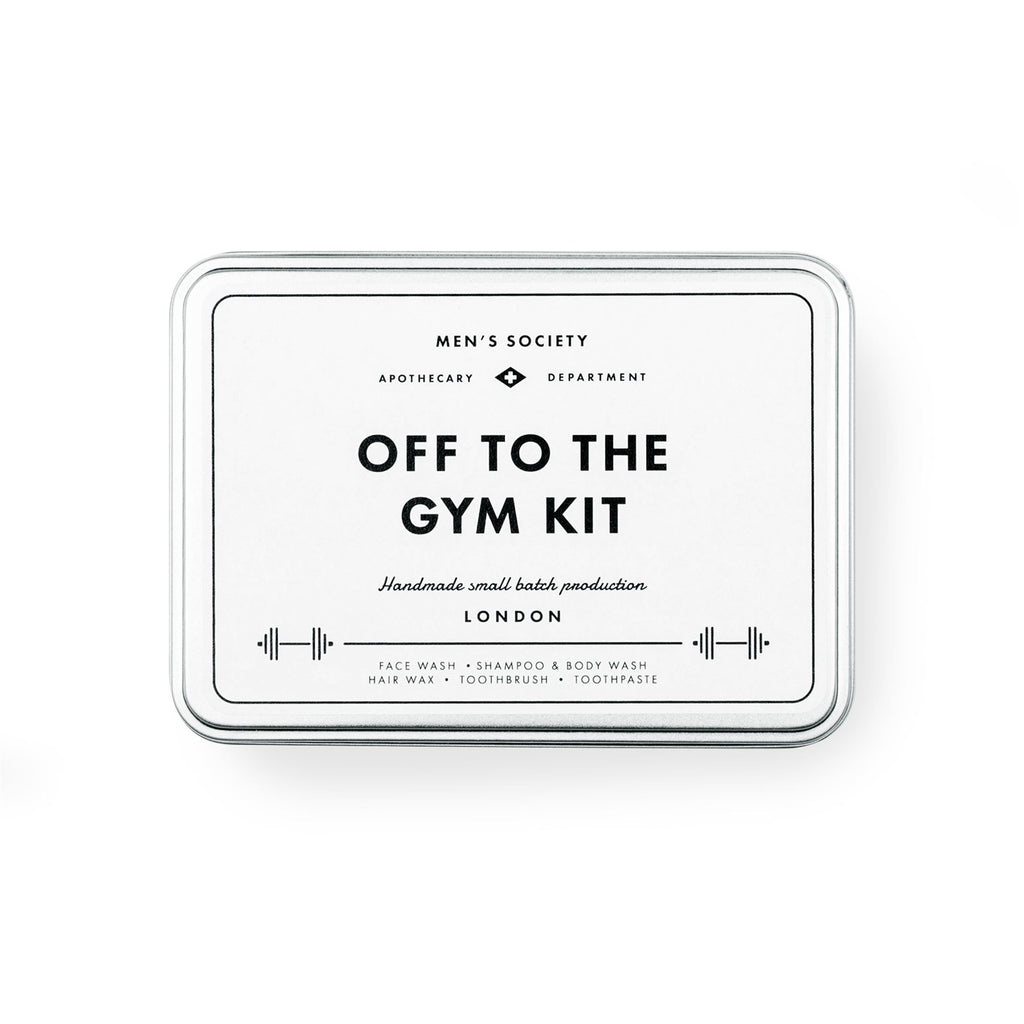 Men's Society - Off To The Gym Kit - Face Wash/Shampoo/Body Wash/Hair Wax/Toothbrush/Paste