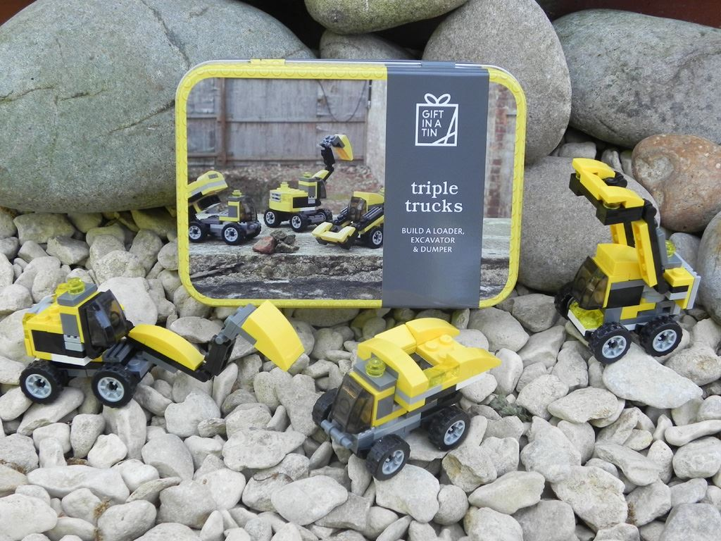 Apples To Pears - Build - Gift In A Tin - Triple Trucks - Loader, Excavator & Dumper