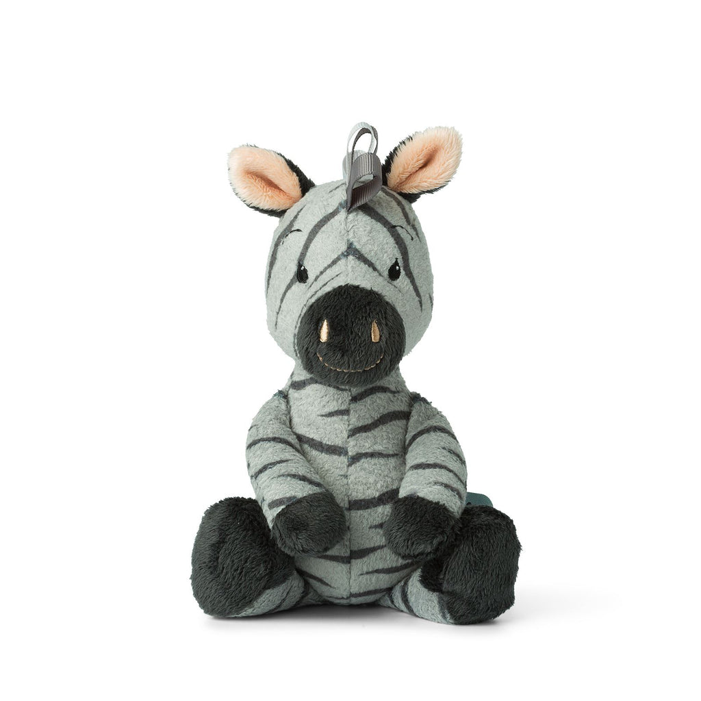 WWF Cub Club - Bon Ton Toys - Ziko The Zebra  With Bell - Grey - 22cms  - Suitable From Birth