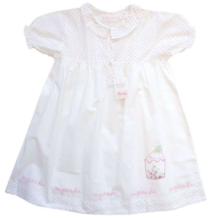 100% Cotton Shortsleeve Nightdress - Grace - Cupcakes - Powell Craft - Ages 2-9