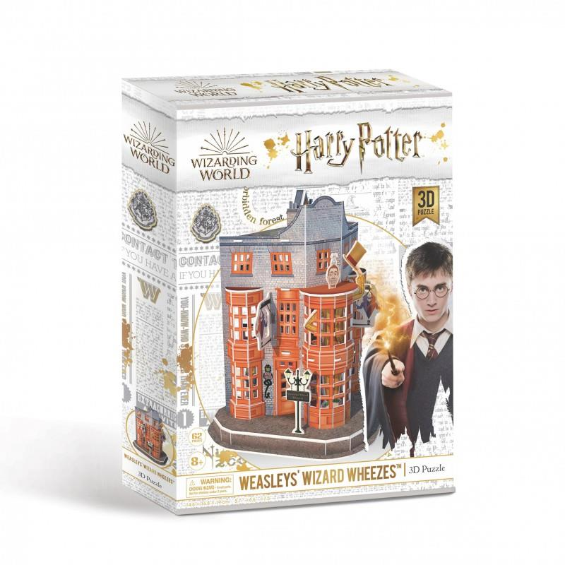 Harry Potter's Wizarding World - 3D Jigsaw Puzzles - Weasleys' Wizard Wheezes Shop
