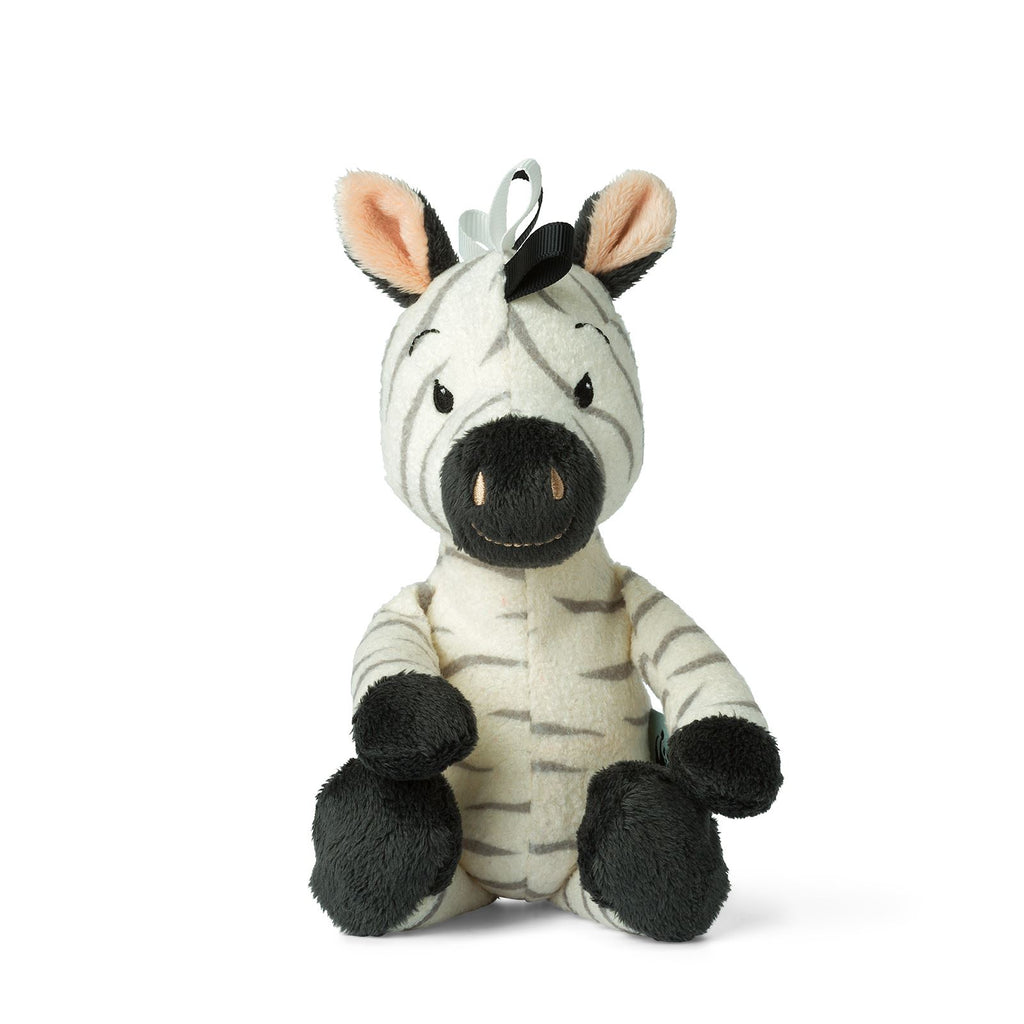 WWF Cub Club - Bon Ton Toys - Ziko The Zebra  With Bell - White - 22cms  - Suitable From Birth