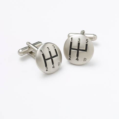 Novelty Cufflinks - Gear Stick - CK68 - Onyx Art