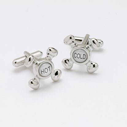 Novelty Cufflinks - Hot & Cold Taps - CK43 - Onyx Art