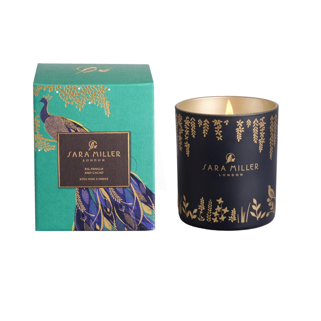Sara Miller - Soya Wax Candle 240g/60hrs Burn Time - Fig, Vanilla & Cacao