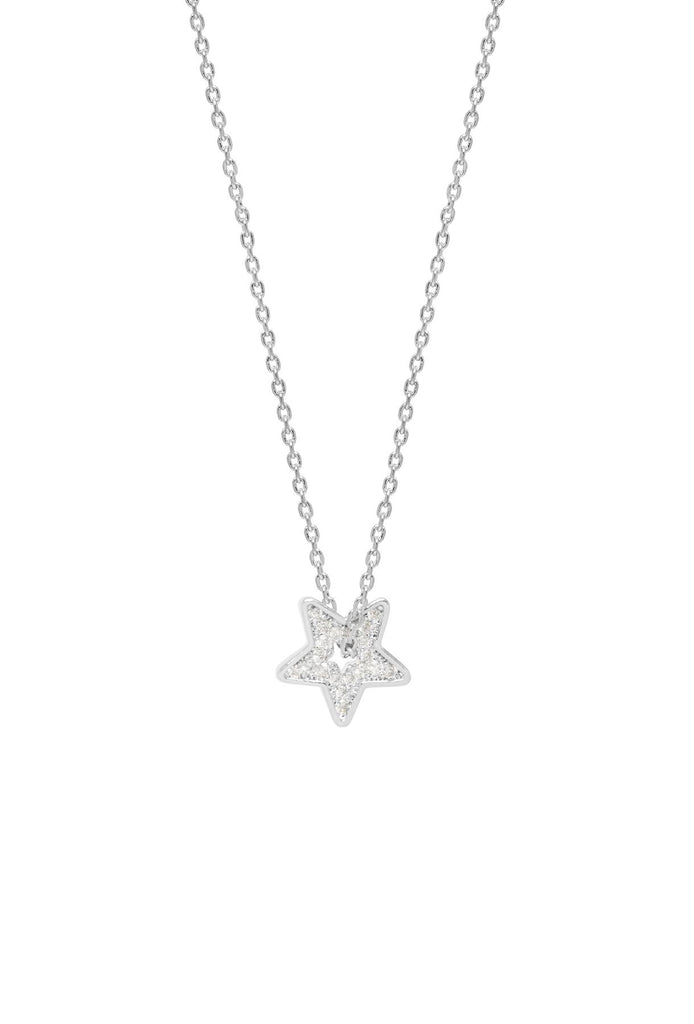 Thread Through Twinkling Star Necklace - Silver Plated - Starry Eyed Girl - Estella Bartlett